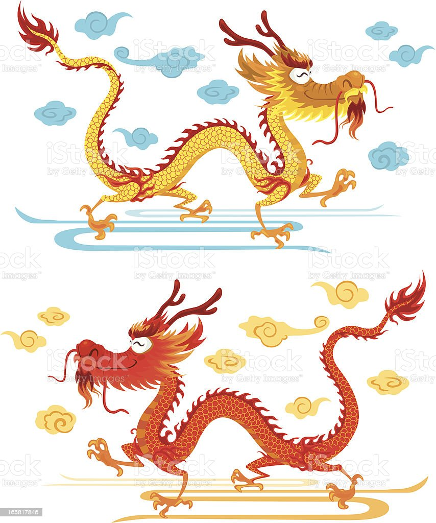 Happy Chinese Dragon royalty-free stock vector art
