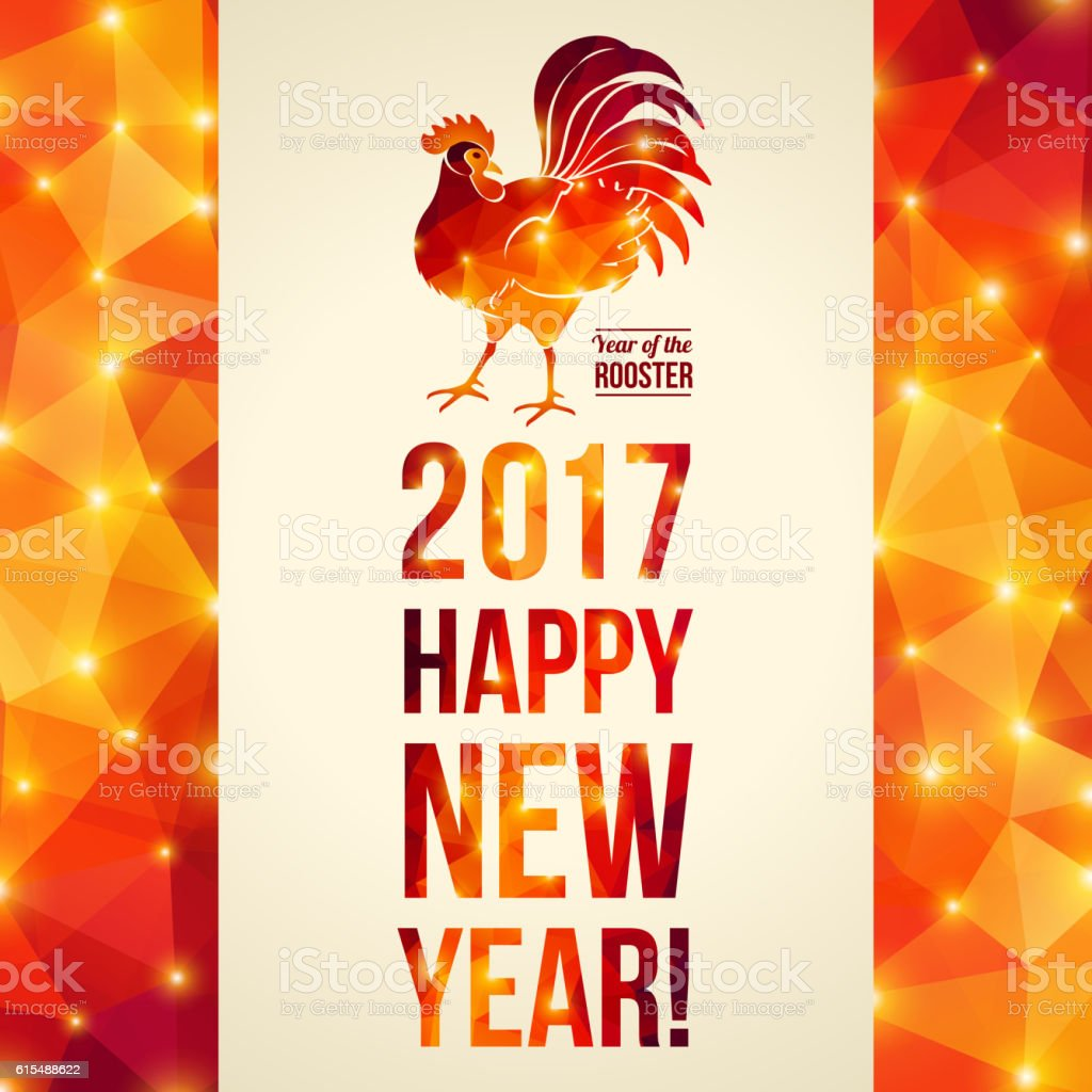 New year 2017 greeting pictures year of rooster happy chinese new year - Happy Chinese New Year 2017 Greeting Card Royalty Free Stock Vector Art