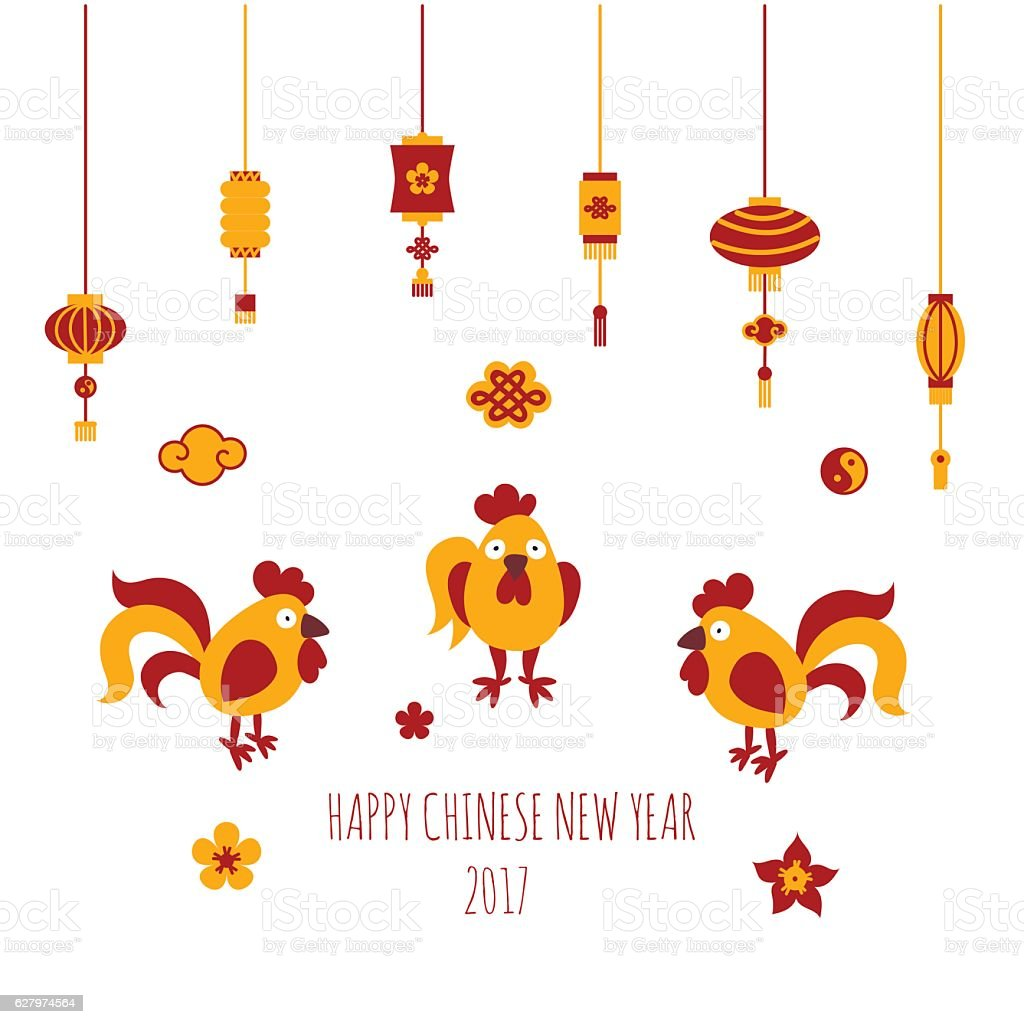 happy chinese new year vector card template stock vector