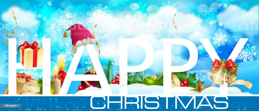 Happy Christmas Banner royalty-free stock vector art