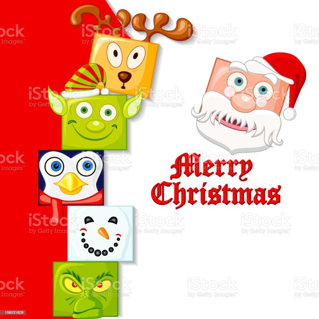 Happy Christmas Character royalty-free stock vector art