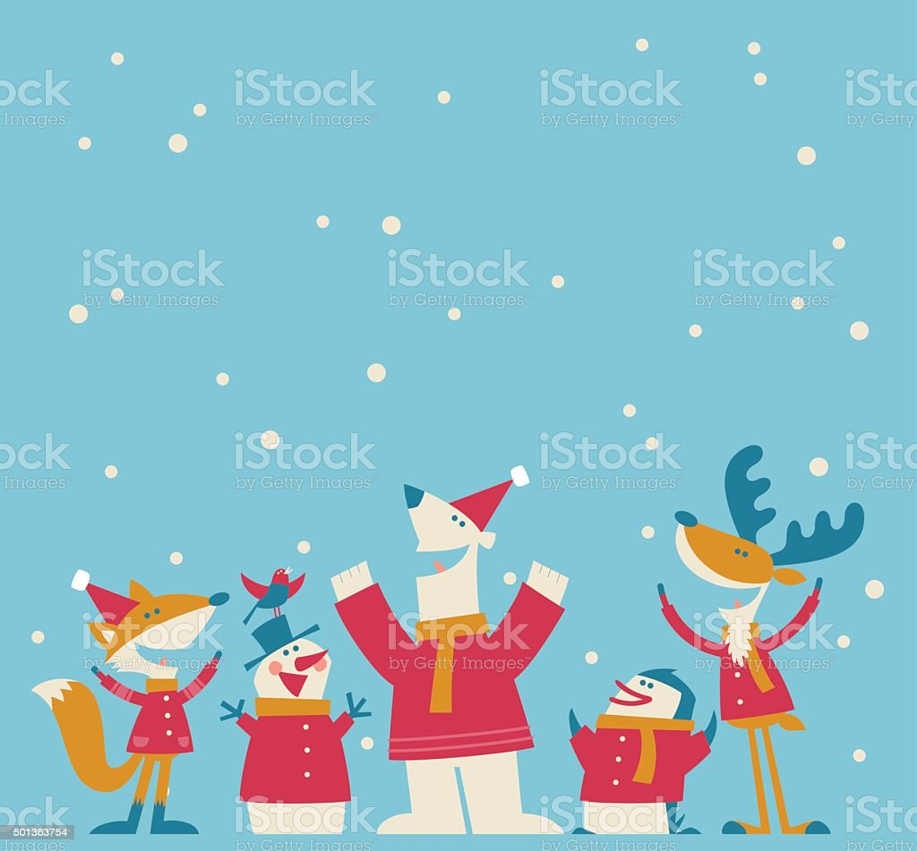 Happy Christmas vector art illustration
