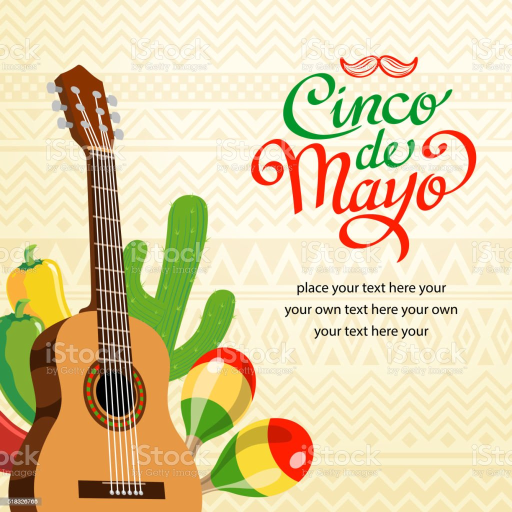 Feliz Cinco De Mayo Invitation vector art illustration