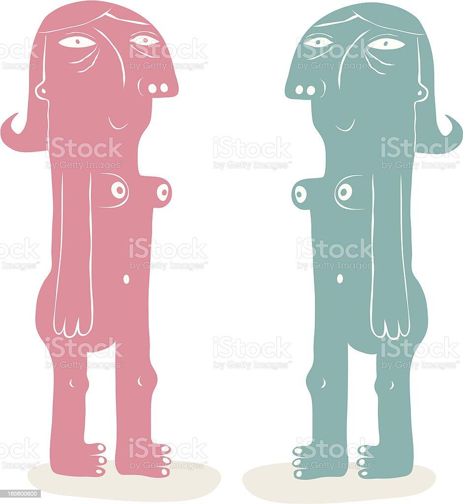 Happy Couple royalty-free stock vector art