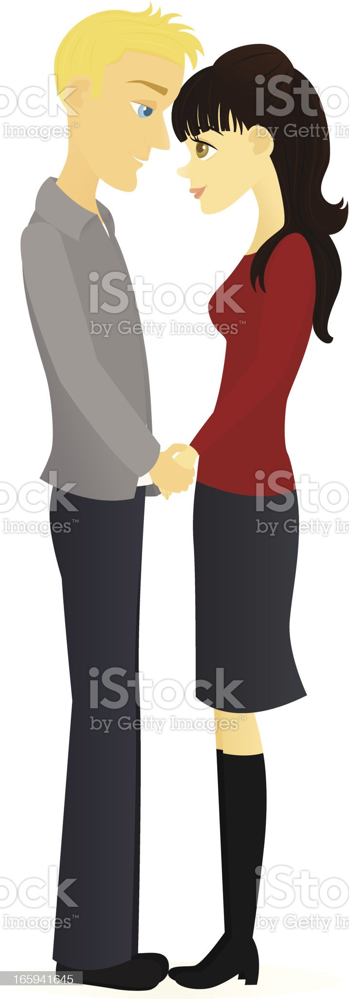 Happy Couple royalty-free stock vector art