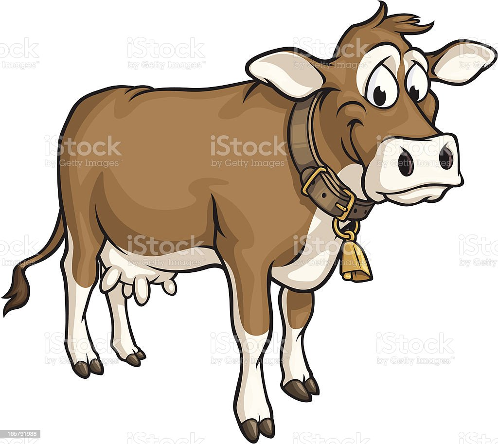 Happy Cow vector art illustration