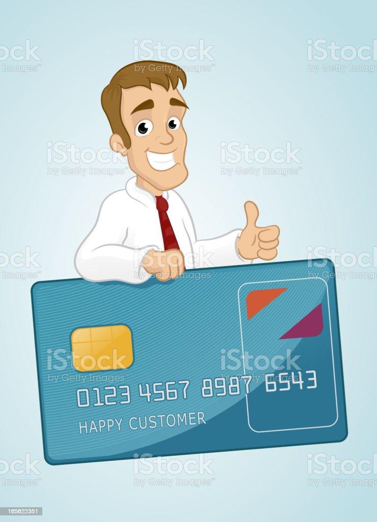 Happy Customer vector art illustration