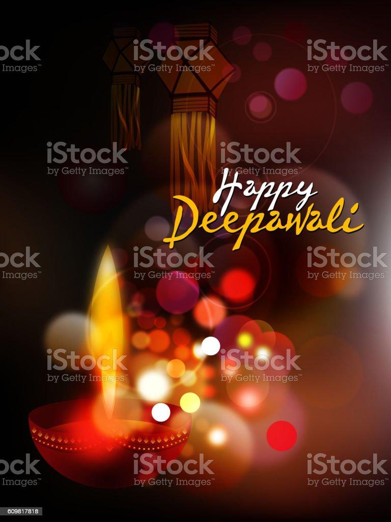 Happy Deepawali Background vector art illustration