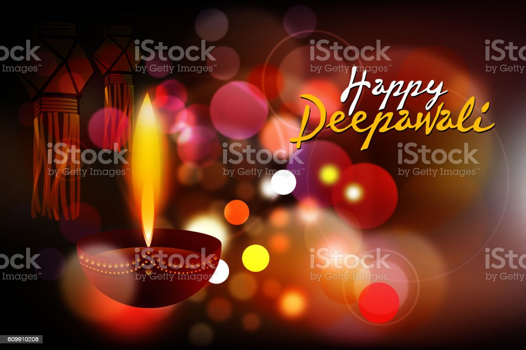 Happy Deepawali Background vector art illustration