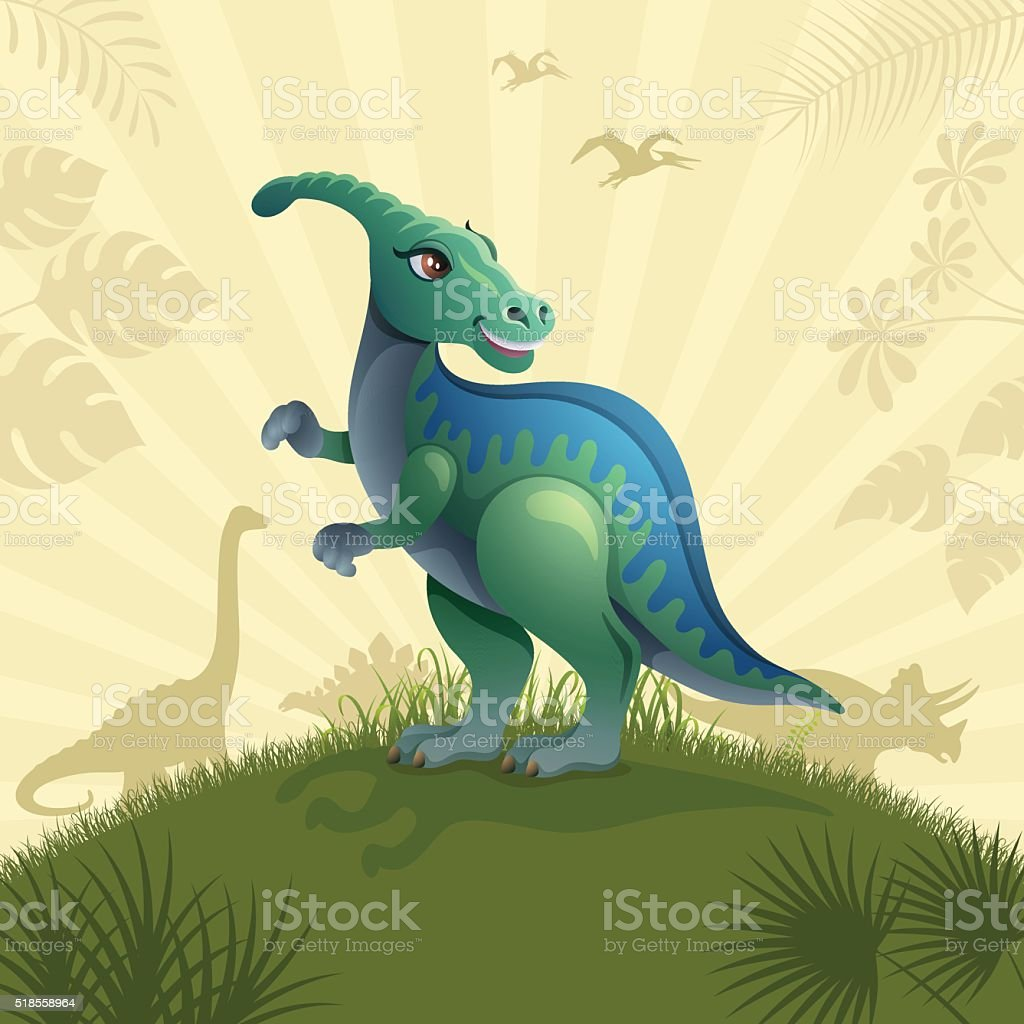 Happy Dino vector art illustration
