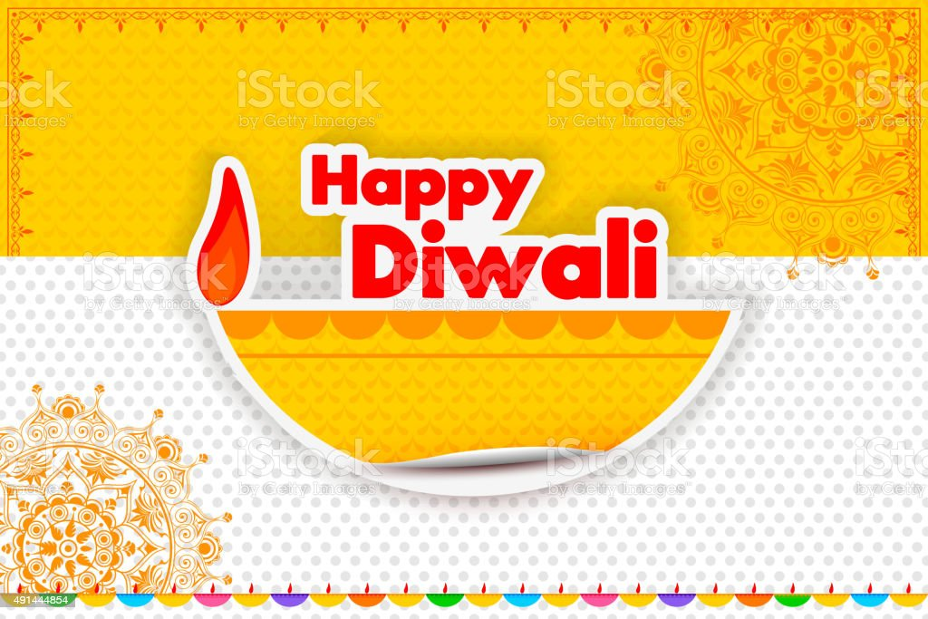 Happy Diwali holiday offer vector art illustration
