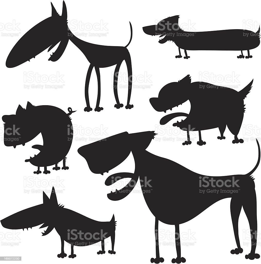 Happy Dogs royalty-free stock vector art