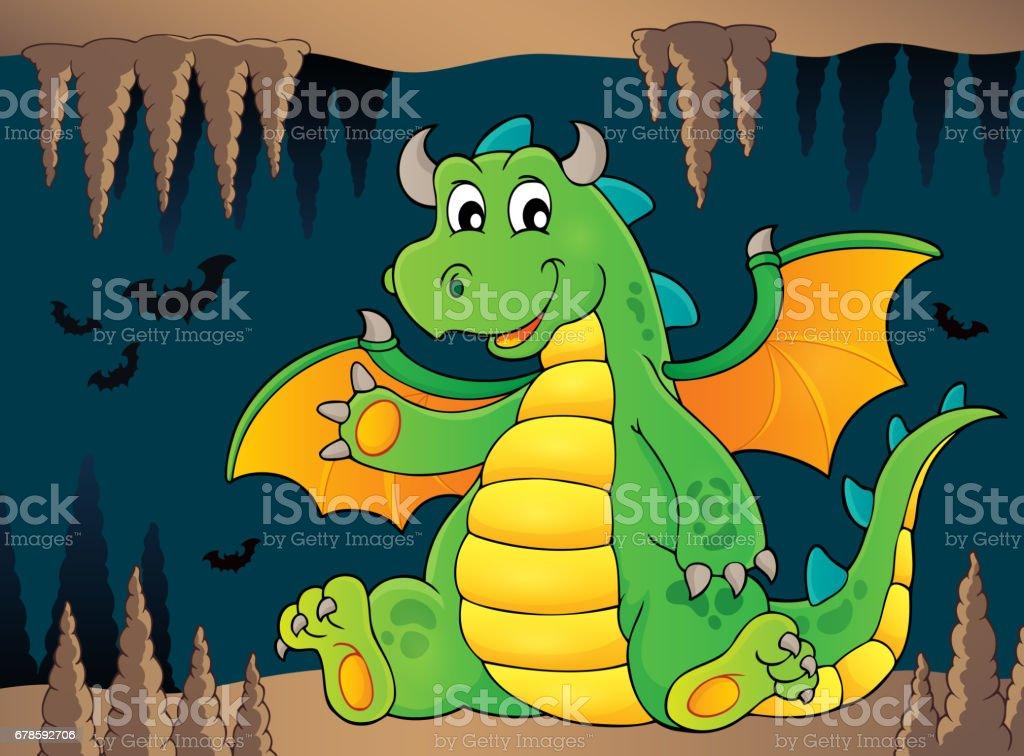 Happy dragon topic image 5 vector art illustration