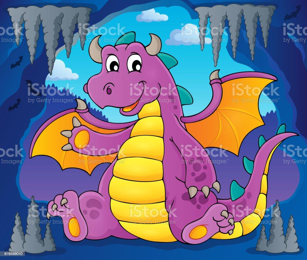 Happy dragon topic image 6 vector art illustration