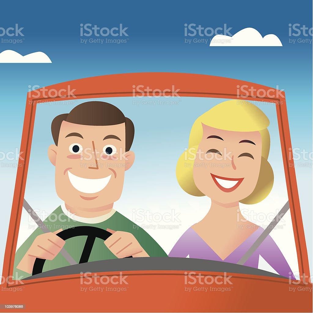 Happy Driving royalty-free stock vector art
