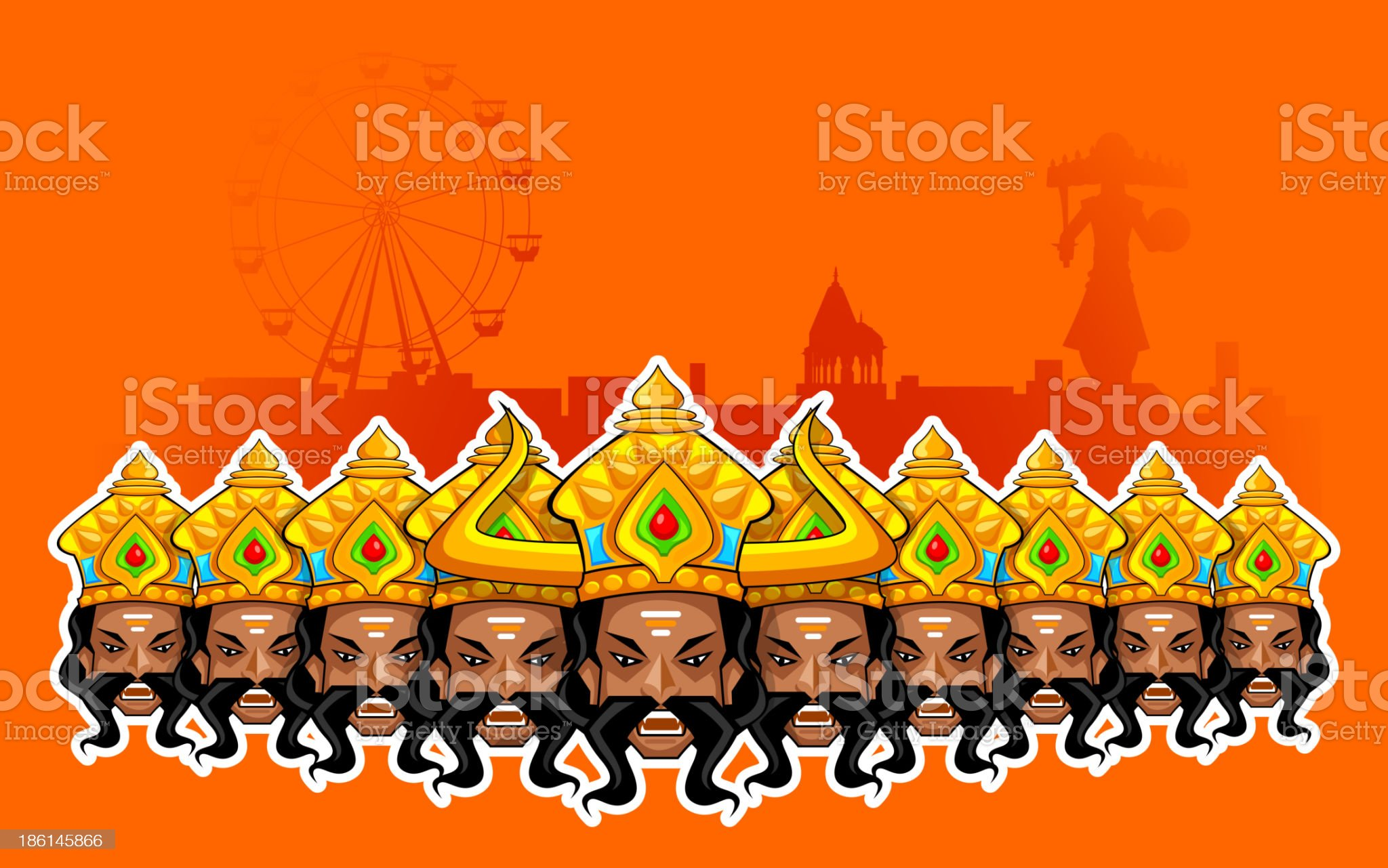 Happy Dussehra Holiday royalty-free stock vector art