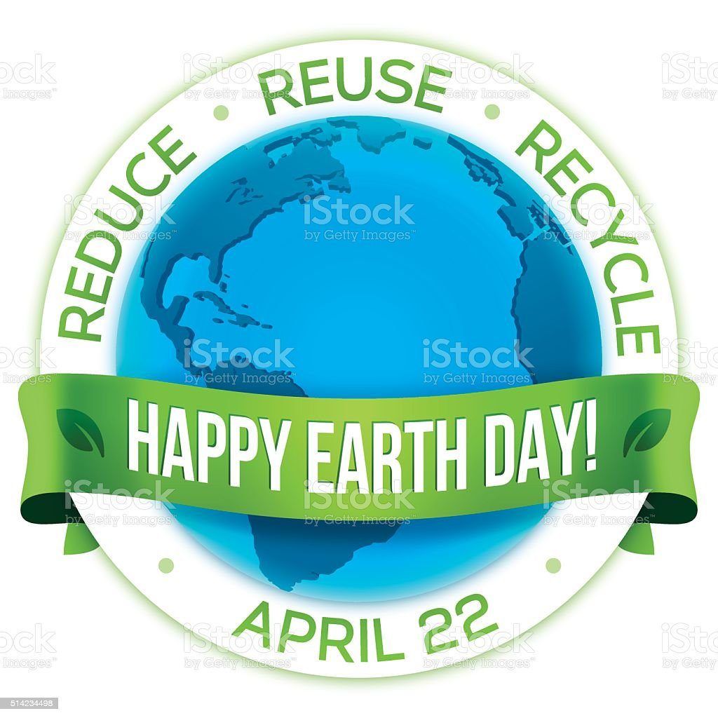 Happy Earth Day! vector art illustration