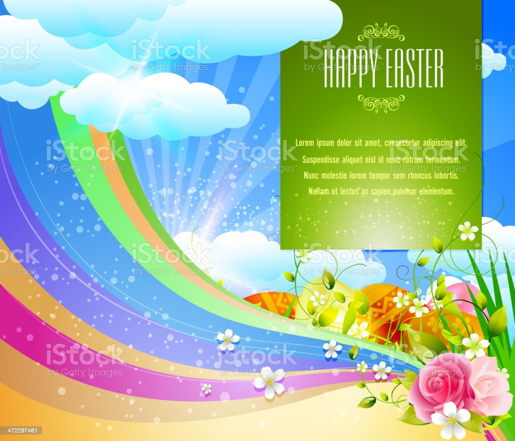 Happy Easter Background royalty-free stock vector art