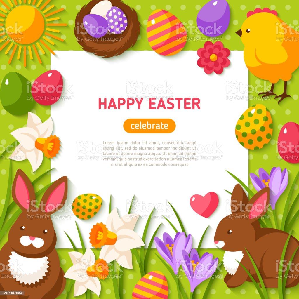 Happy Easter Background vector art illustration