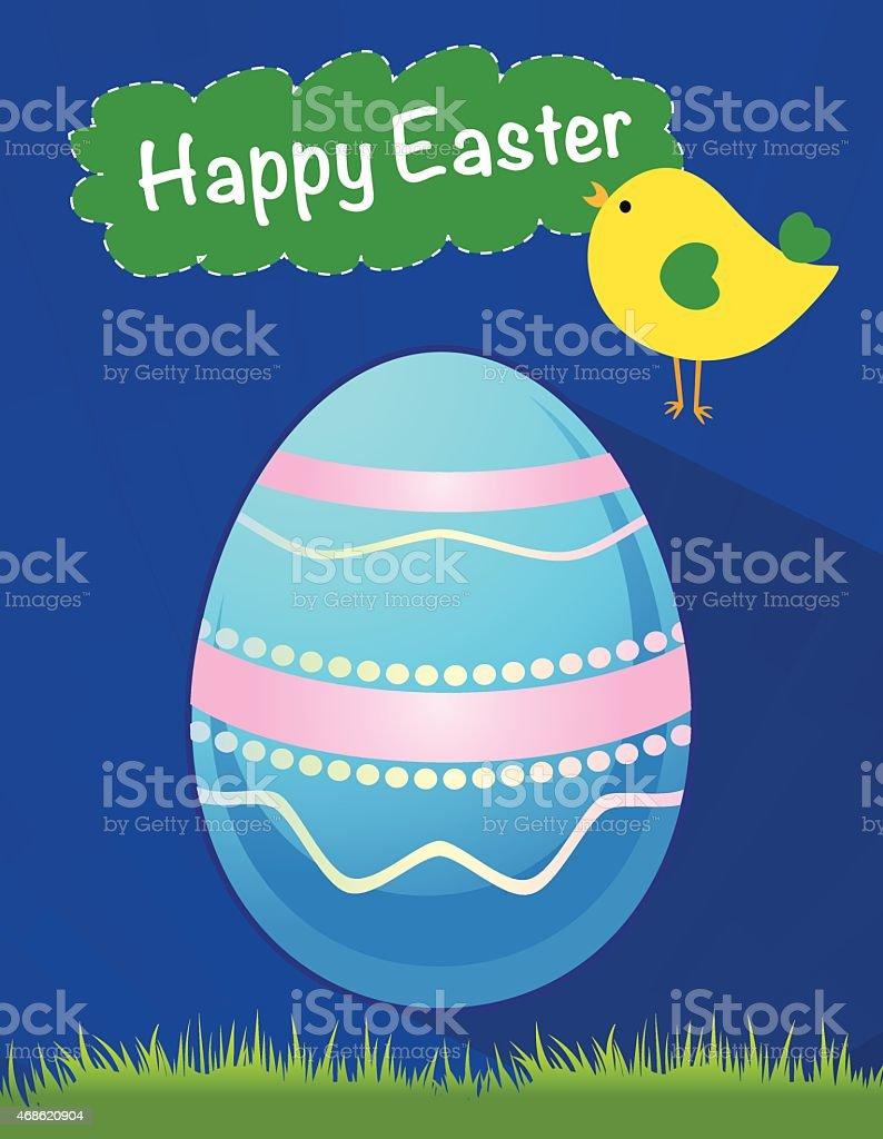 happy Easter blue egg vector, Easter holiday, egg vector vector art illustration