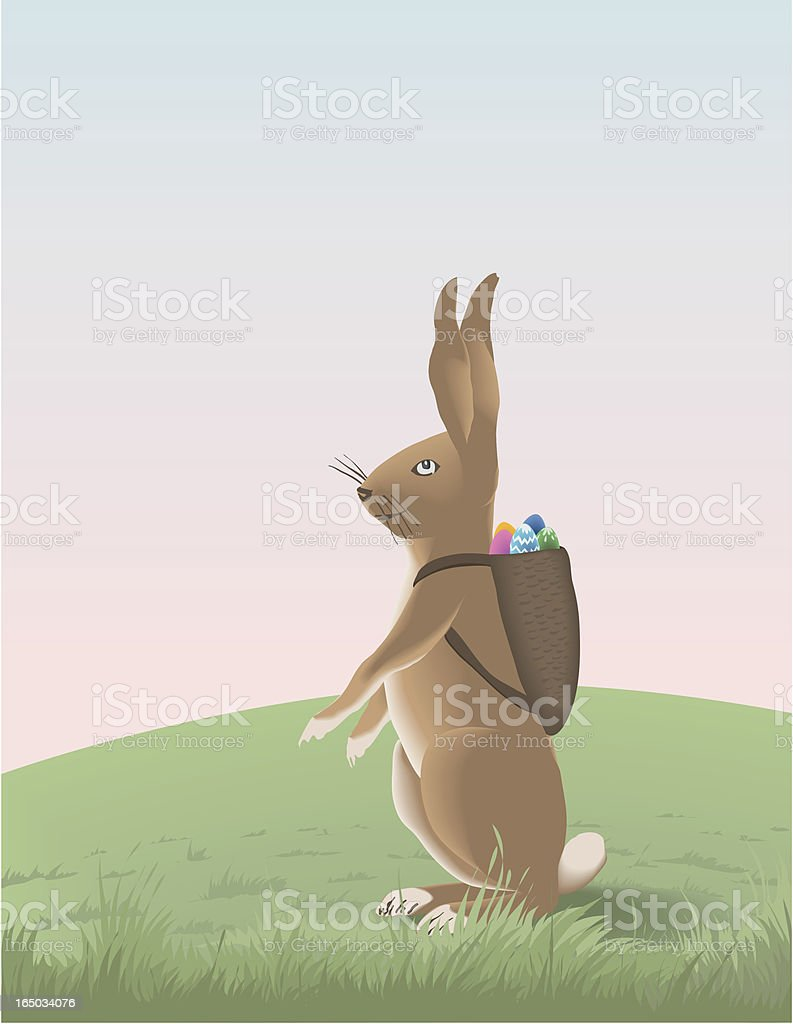 Happy easter bunny royalty-free stock vector art