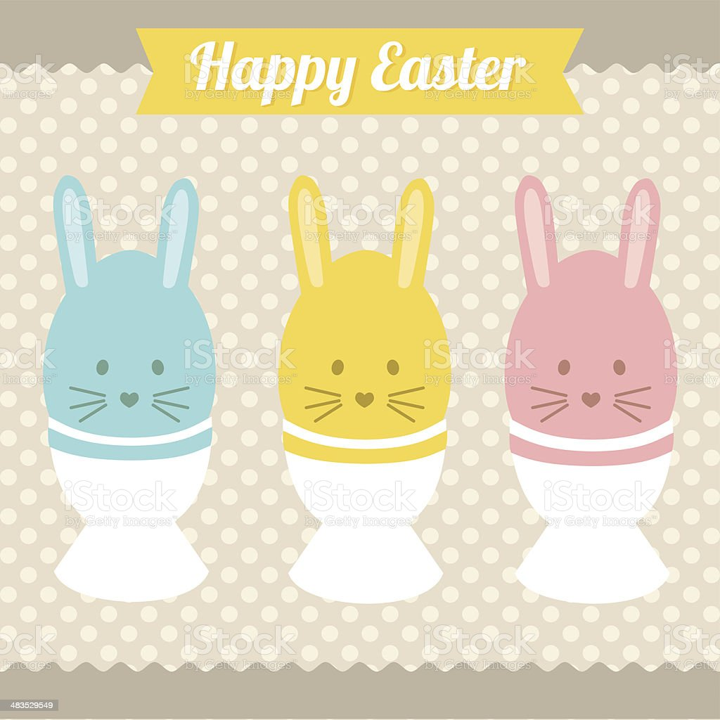 Happy Easter bunnys ! vector art illustration