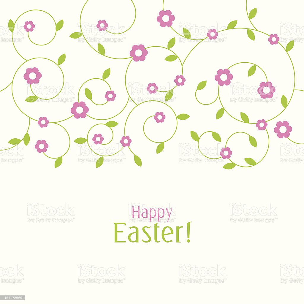 Happy easter card royalty-free stock vector art