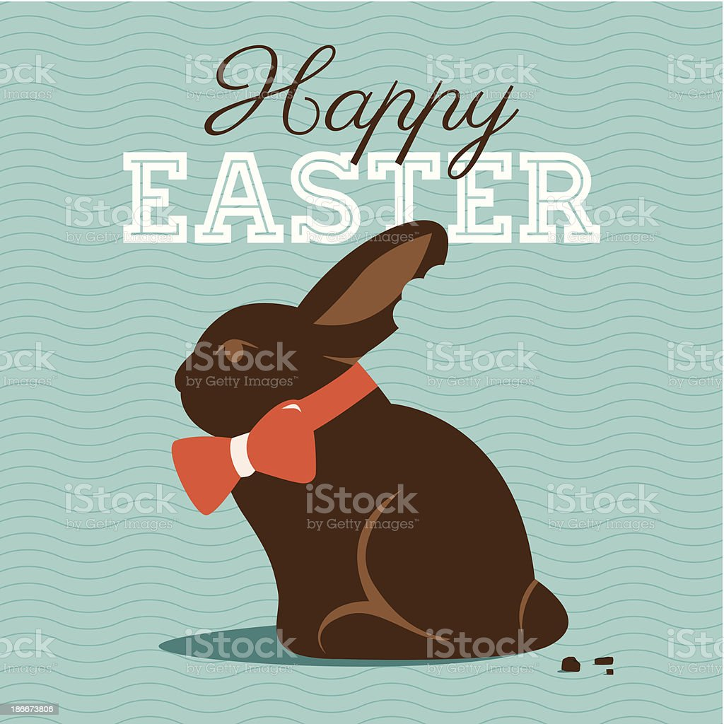 Happy easter card vector art illustration