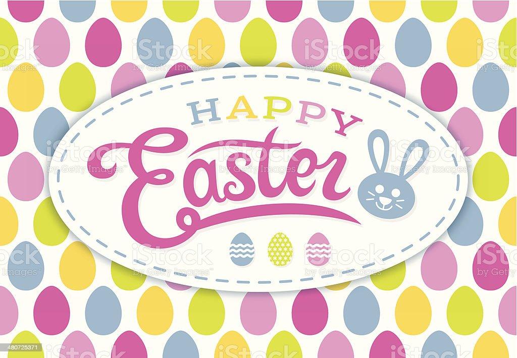 Happy Easter card vector art illustration