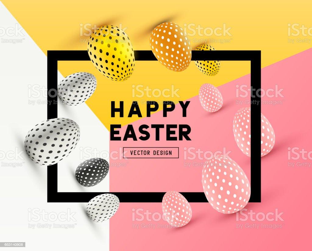 Happy Easter Design vector art illustration