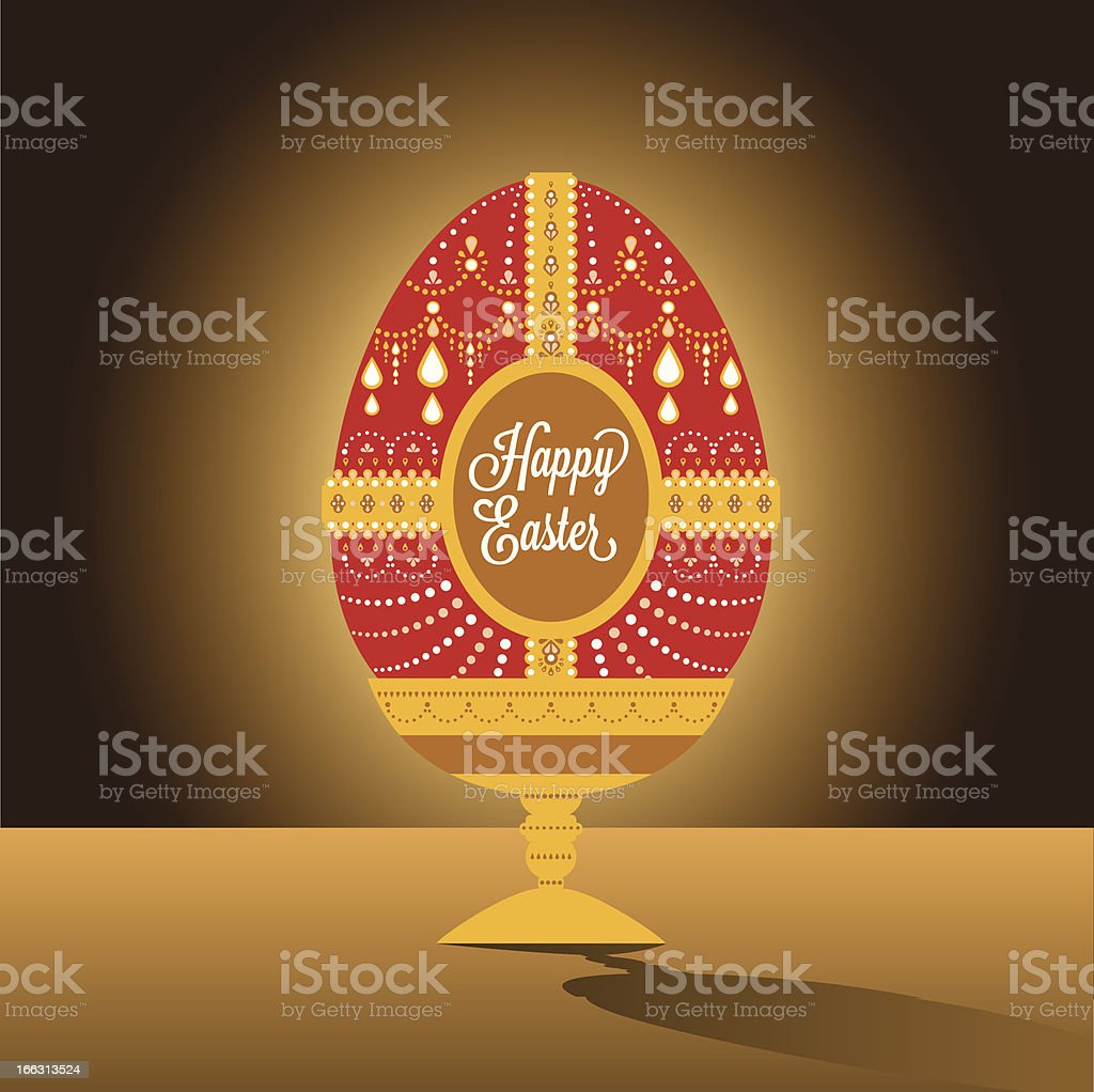 Happy easter egg illustration with font royalty-free stock vector art