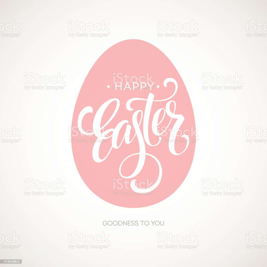 Happy Easter Egg Lettering Poster. Vector illustration vector art illustration