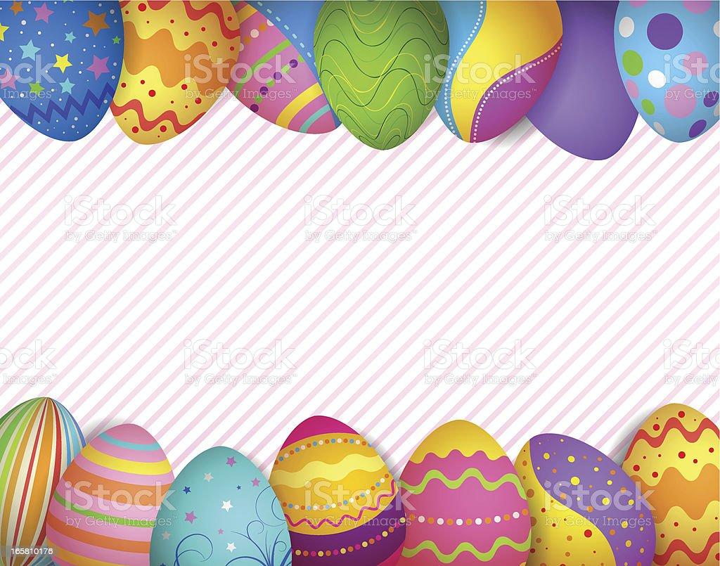 Happy easter eggs frame vector art illustration