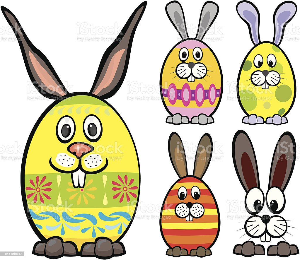 happy easter - eggs royalty-free stock vector art