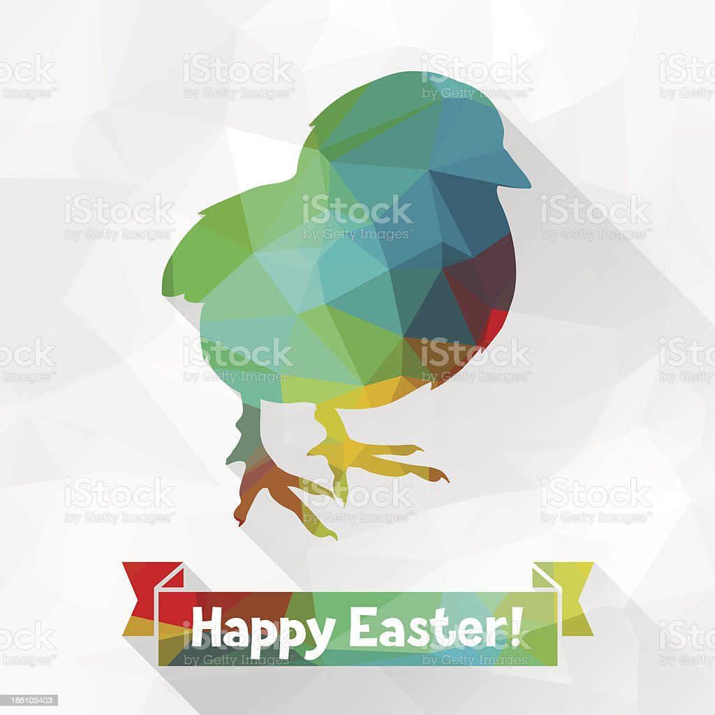 Happy Easter greeting card background. royalty-free stock vector art