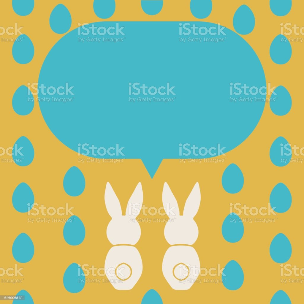 Happy Easter Greeting Card Template stock vector art 646906542 – Easter Greeting Card Template