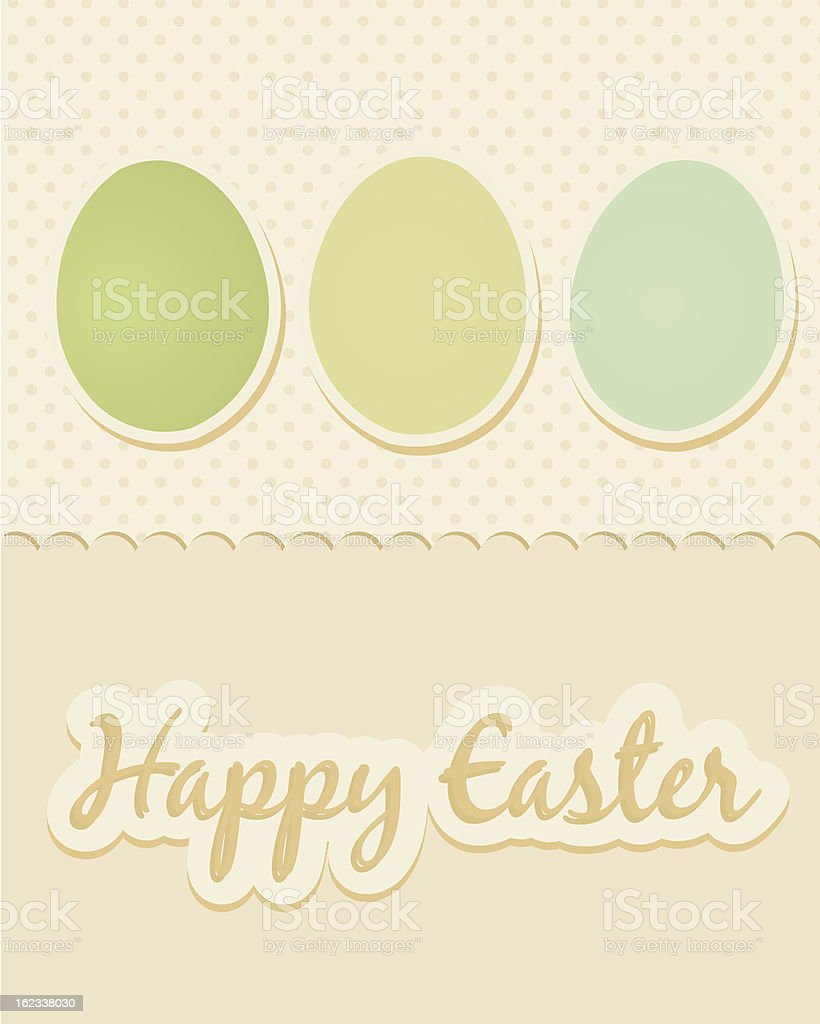 Happy Easter greeting card vector art illustration