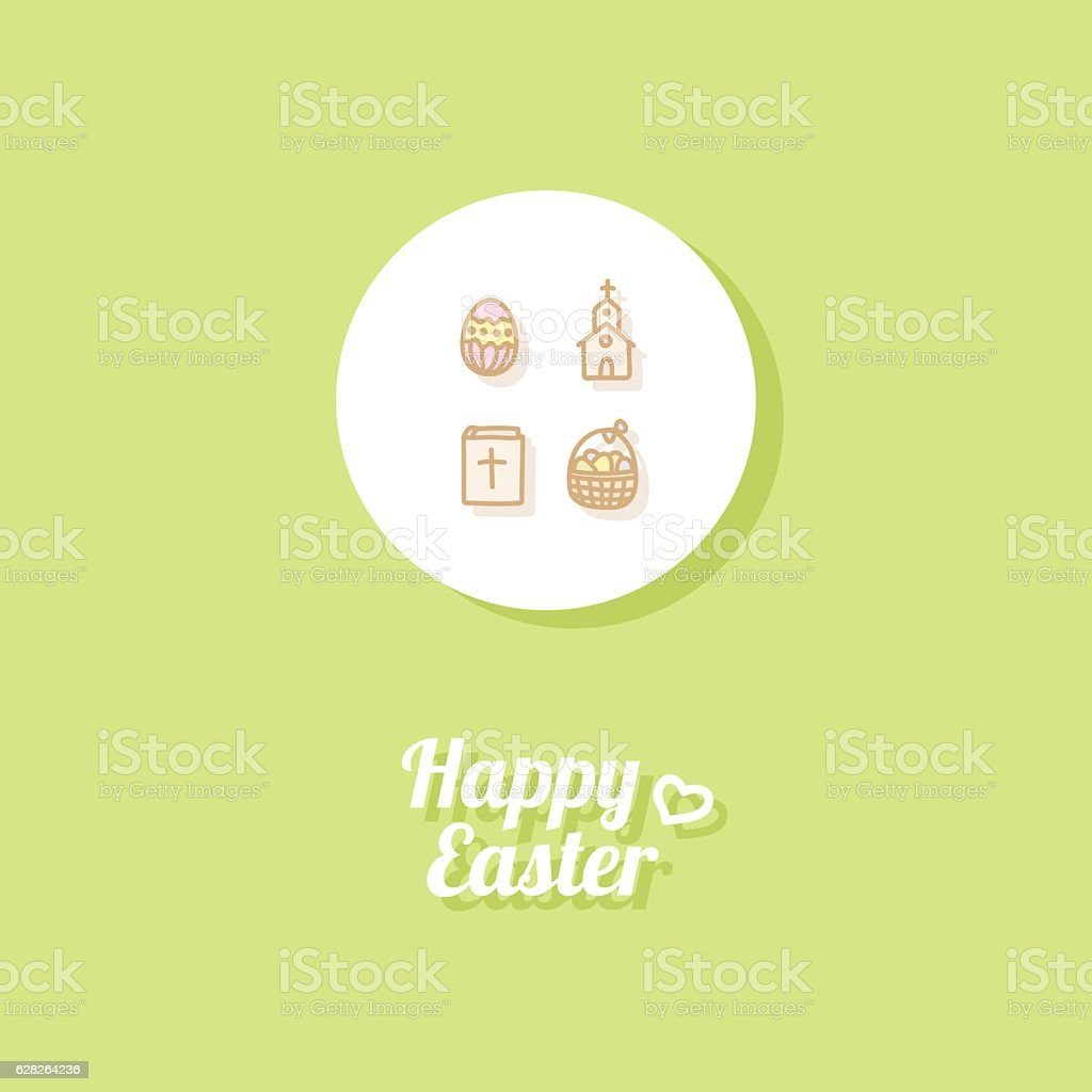 Happy Easter. Greeting card vector art illustration
