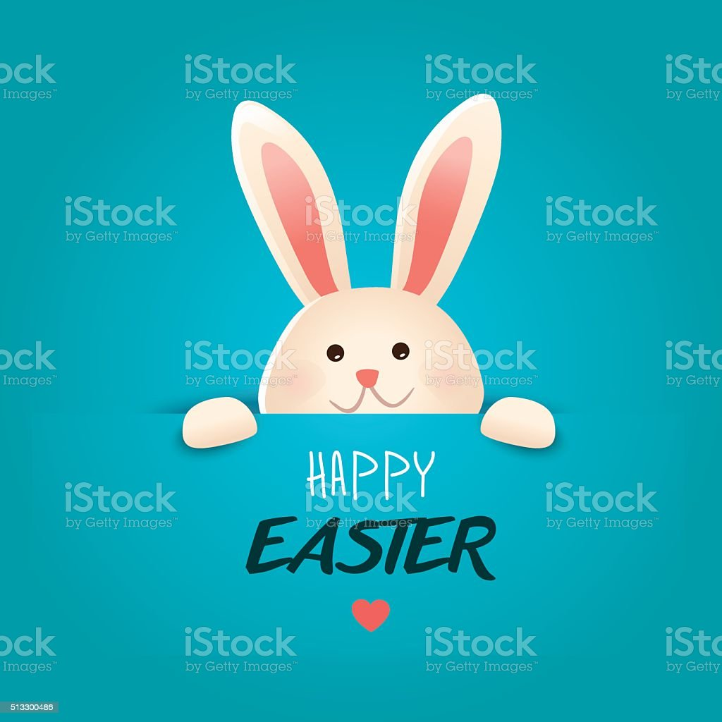 Happy Easter greeting card.Vector vector art illustration