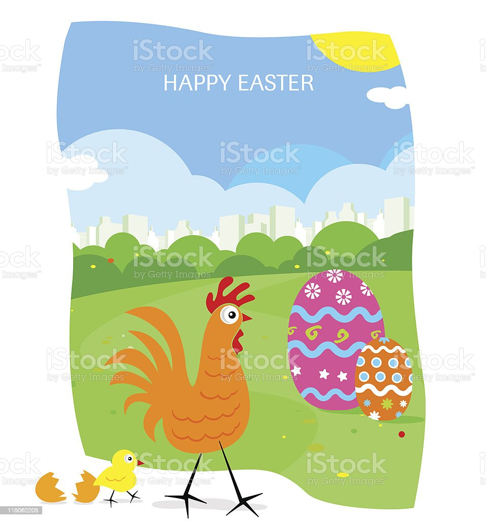 Happy Easter II royalty-free stock vector art