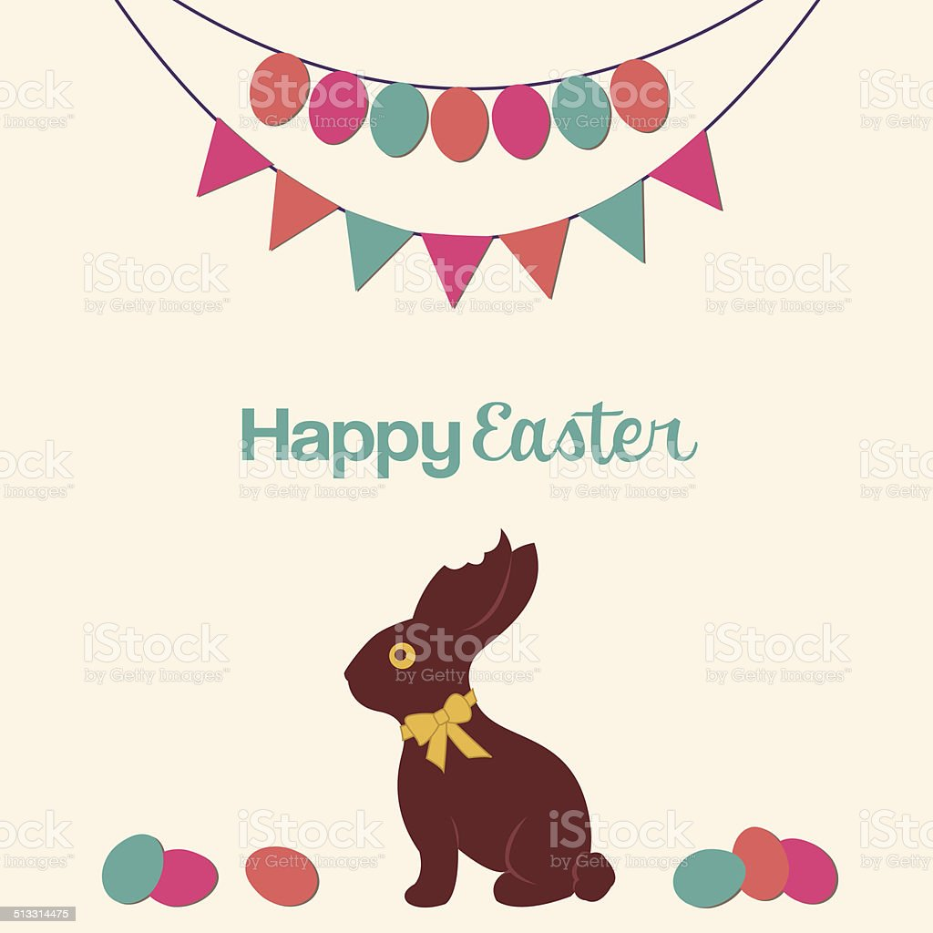 Happy Easter Illustration vector art illustration