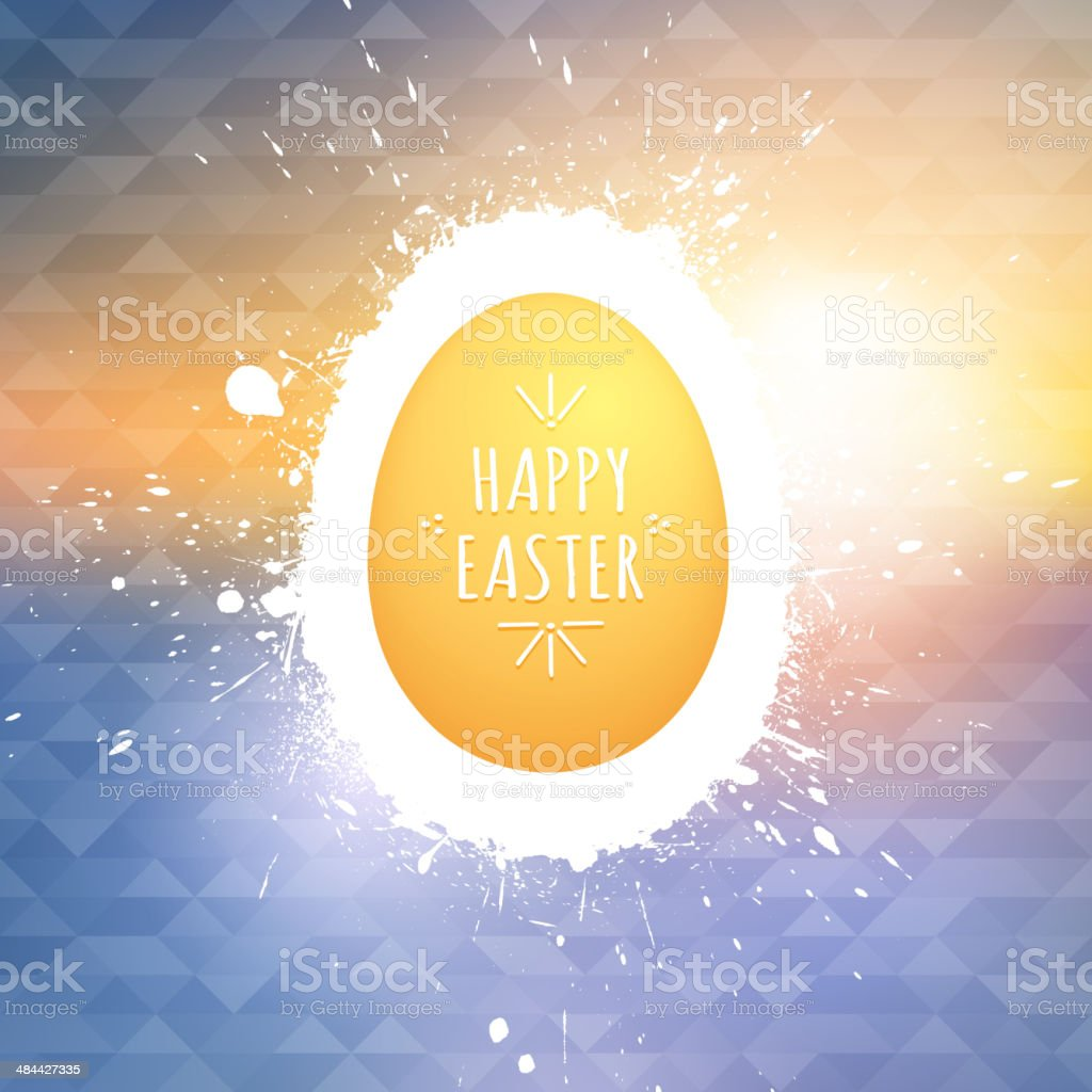 Happy Easter vector background royalty-free stock vector art