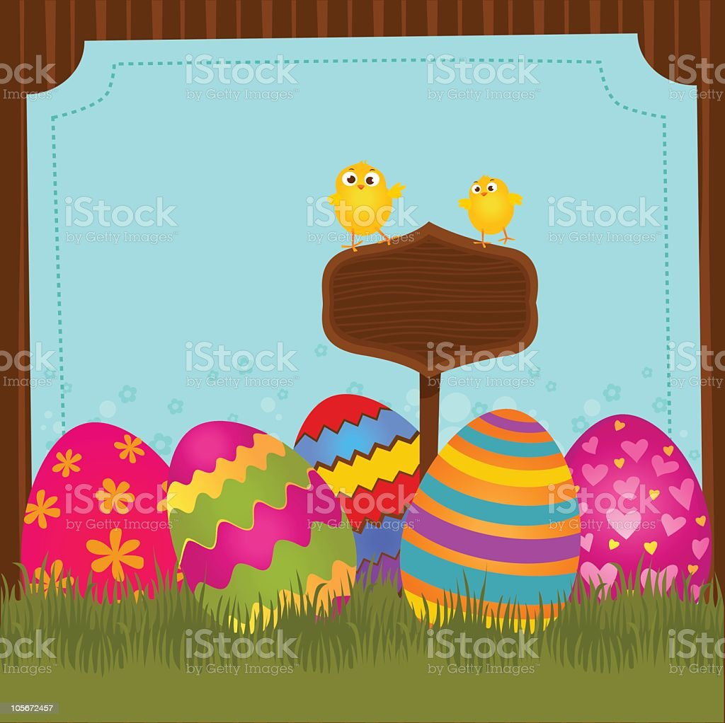 Happy Easter! royalty-free stock vector art