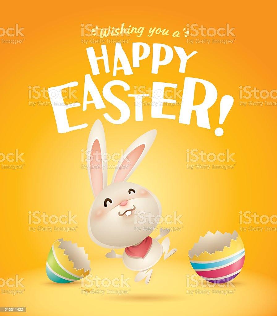 Happy Easter! vector art illustration
