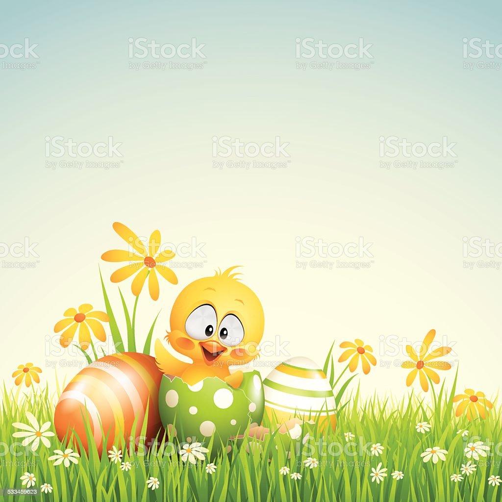 Happy Easter vector art illustration