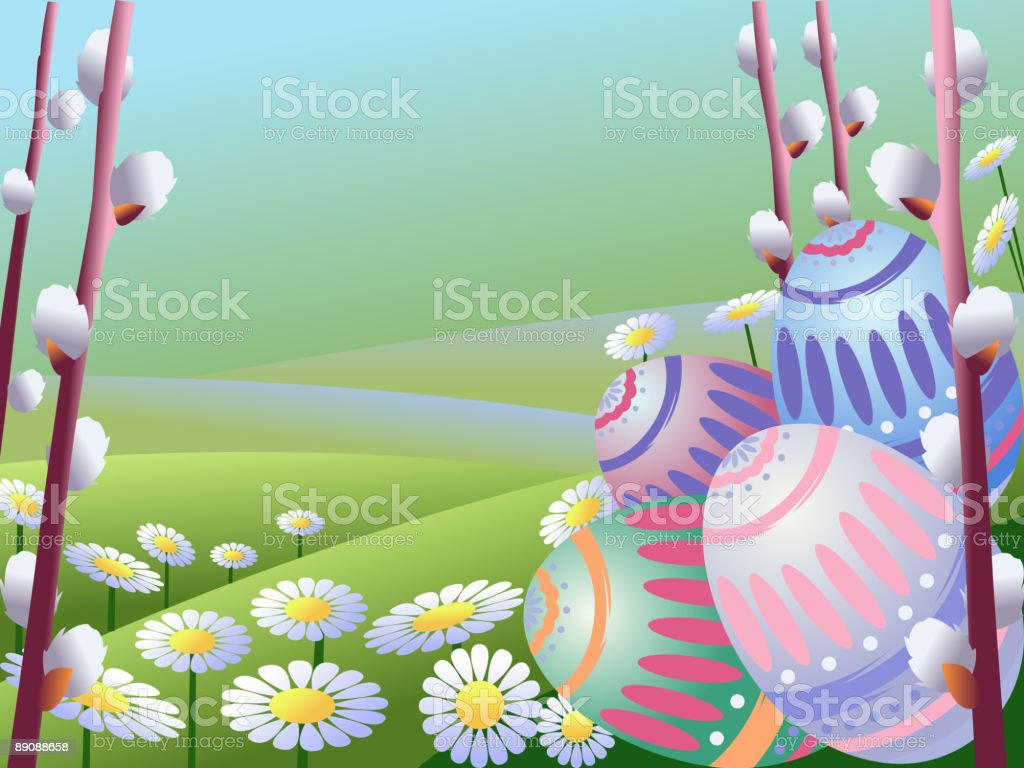 Happy Easter vector art illustration