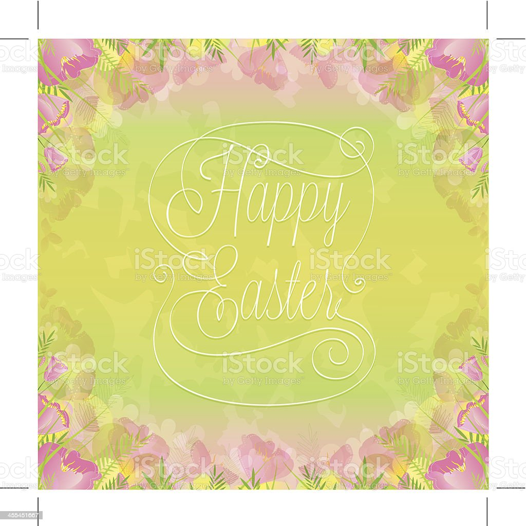 Happy Easter Wish royalty-free stock vector art