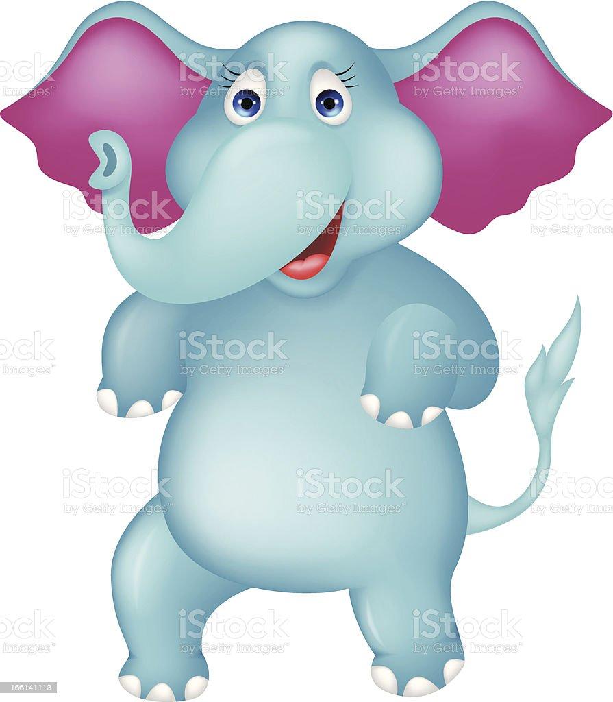 Happy elephant cartoon royalty-free stock vector art