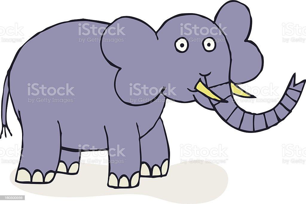 Happy Elephant royalty-free stock vector art