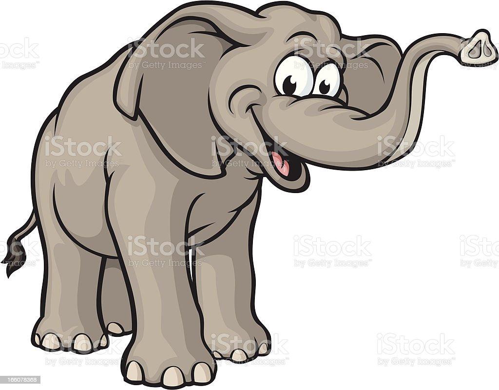 Happy Elephant vector art illustration